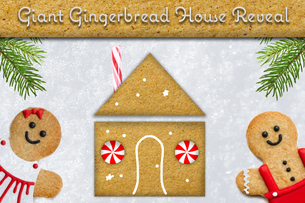 Gingerbread House Reveal