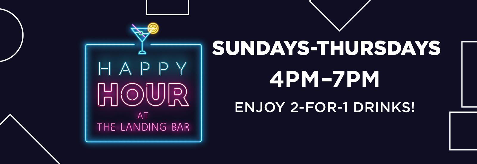 TLH Sunday- Thursday Happy Hour